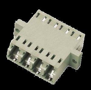 LC Quad Multimode OM2 Flange Coupler - DINTEK Electronic Ltd